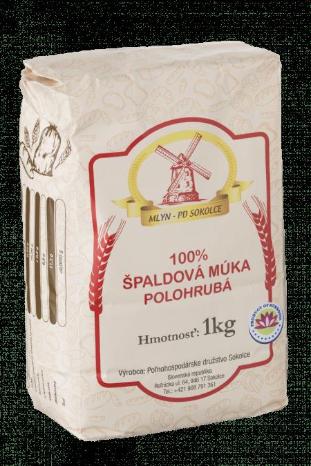 100% ŠPALDOVÁ MÚKA POLOHRUBÁ / 1 KG