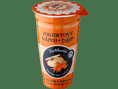 Jogurtový nápoj JABLKO-RAKYTNíK Kukkonia / 230 ml