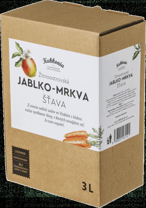 Jablko-mrkva šťava 100% KUKKONIA / 3L