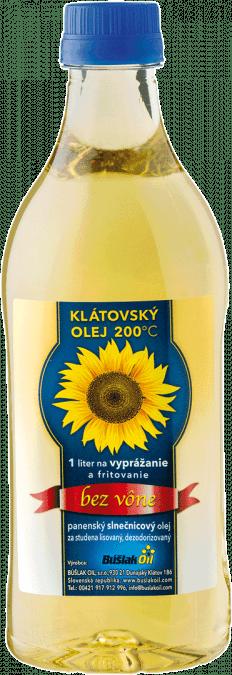 Klátovský olej 200°C bez vône na vyprážanie a frit. / 1 l