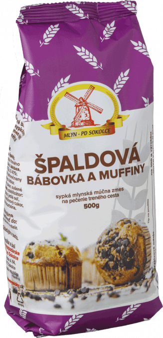 MÚČNÁ ZMES, špaldová bábovka a muffiny / 0,5 kg