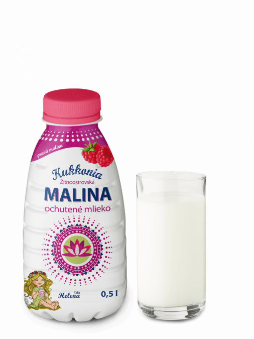 Kukkonia ochutené mlieko 2% - malina 0,5L