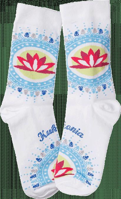 Ponožky Kukkonia / biela