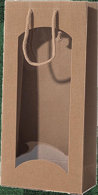 Taška papierová s okienkom