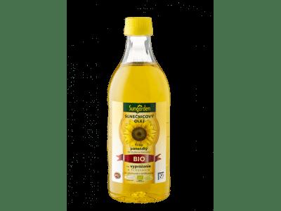 Sungarden szűz bio-napraforgóolaj sütéshez, 1 L