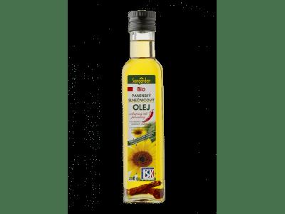 Csilis bio-napraforgóolaj, 250 ml