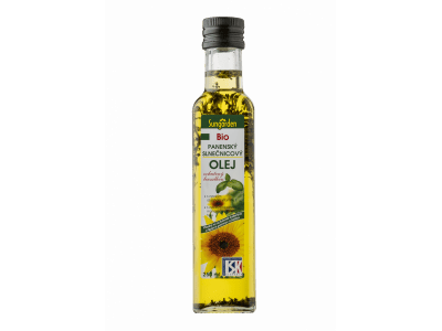 Bazsalikomos bio-napraforgóolaj, 250 ml