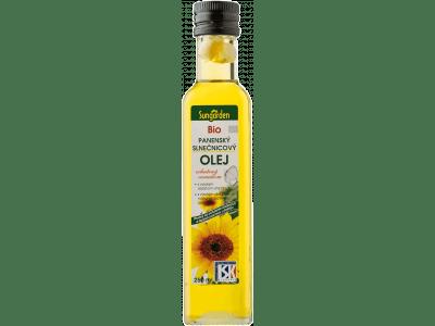 Bio panenský slnečnicový olej Sungarden s cesnakom /250 ml