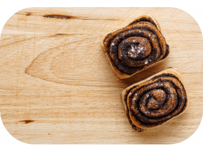 Kysnuté ruže s kakaovou náplňou / 172 g