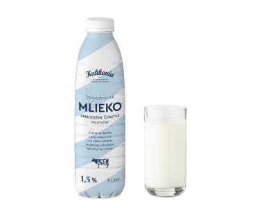 Kukkonia čerstvé mlieko polotučné 1,5% ESL / 1 l
