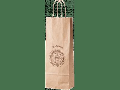 Taška papierová vínová s logom Kukkonia